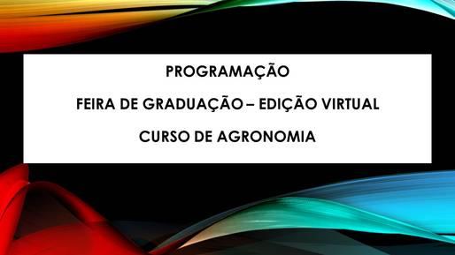 Programação Feira da Graduação 2020